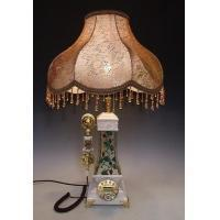 Quality antique phone table lamp pocahontas white pearl for sale
