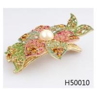 Quality Fancy bridal indian crystal flower wedding pearl hair accessories H50010 for sale