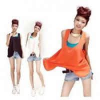 Women Sleeveless T-shirt Chiffon Loose Tank Tops