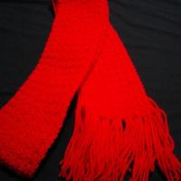 Fashion and accessories crochet red scarf