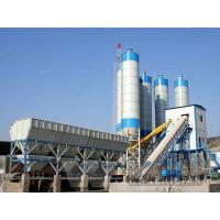 Quality HLS120K Overhead type cement bin concrete mixing plant for sale