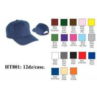 Quality First Quality Plain Solid Color Baseball Caps Hats HT801 for sale