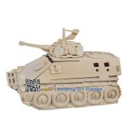 Quality DIY toy-3D puzzle-Wooden Infantry tank armored vehicle for sale