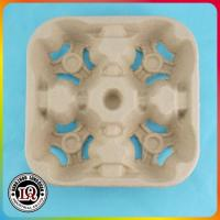 China Disposable Pulp Mould Cup Carrier Tray on sale