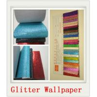 Quality Custom White Glitter PU Wallpapers for sale