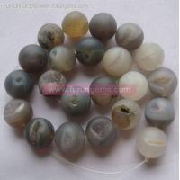 Stock Beads / Ready Items Miarolitic agate round beads 18mm ItemFR1128
