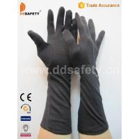 Quality Black cotton glove with long cuff-DCH248 for sale