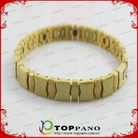 Quality bling color hot fashion stainless steel braided energy bracelet for sale