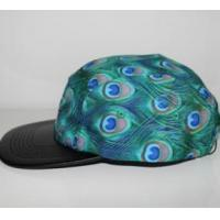 2016 fashion blue peacock feathers cotton and polyester camper cap