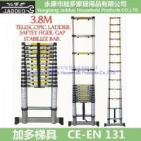 Buy cheap 3.8m Telescopic ladder with Stabilizer Bars + Finger safety gap from wholesalers