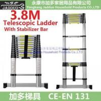 Buy cheap 3.8m Telescopic ladder with Stabilizer Bars from wholesalers