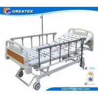 Quality Remote Control Mobile Handicapped Electric Hospital Bed With IV Pole Three Functions for sale