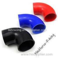 """Best 4"""" to 3"""" Black 90 degree Reducer Elbows Silicone Hose 102mm to 76mm wholesale"""