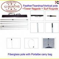 Quality FLAGPOLE & BASE Flag Pole With Carry Case for sale