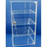 Buy cheap Acrylic Counter Displays Four shelves clear acrylic case with door and lock from wholesalers