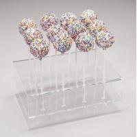 Buy cheap Acrylic Counter Displays Clear three layer rectangle candy display with holes from wholesalers