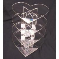 Quality Acrylic Counter Displays 4 Tier square clear acrylic cup cake candy pastry display for sale