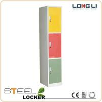 China Products  customized 3 doors steel wardrobe lockers for sale on sale