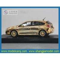 Quality 143 Subaru IMPREZA Diecast Model with plating surface for sale