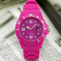 Quality High quality silicone wristband watch with calendar for sale
