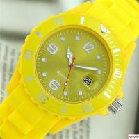 Quality Fashion silicone bracelet watch with date for sale