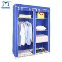 China MEIFENG 47 Inch Closet Rack Portable Clothes Wardrobe With Shelves on sale
