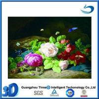 Flower 3d advertising poster in types of flowers pictures with a frame