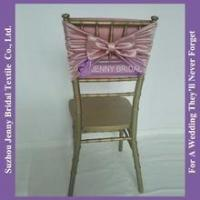 Quality C320A elegant stretch satin blush pink wedding chair cover wholesale for sale