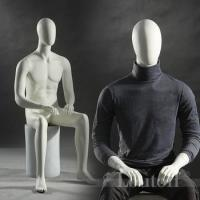New arrival sitting men mannequins for window display shop