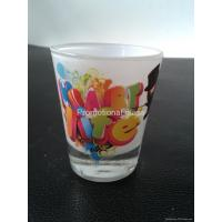 Quality printed glass cup&mug 50ML Wine shot glass cup for sale