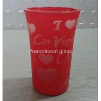 Quality printed glass cup&mug Glass tumbler cup,promotional glass cup for sale