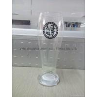Buy cheap Glass Beer Stein 520ml clear Glass beer stein with decal from wholesalers