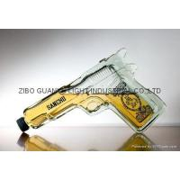 Best glass bottle gun shaped glass bottle,special glass wine bottle wholesale