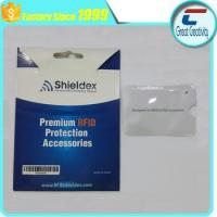 China Aluminum foil paper card holder RFID blocking sleeve on sale