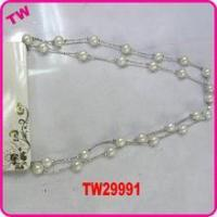 China latest design beads necklace excellent jewelry pearl necklace on sale