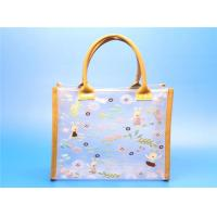 Quality quality PVC women tote bags with PU edge for sale