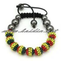 rasta color shamballa mixed bracelets wholesale