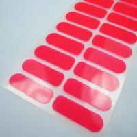 Best Custom neon color nail polish sticker red vinyl nail wrap 20 tips manufacturer wholesale