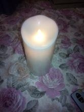 Cheap 89mm LED Pillar Candle Light for sale