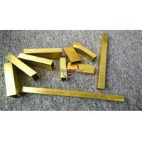 China Thick Walled Brass Tube on sale