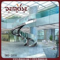 Indoor Spiral Stairs with Glass Railing