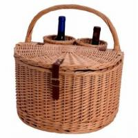 MY3A-1132 Willow Wine&Picnic Basket(2 bottles)