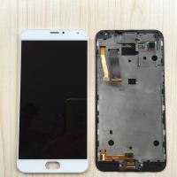 Best LCD Display Touch Digitizer Screen Glass Assembly + Frame White for Meizu MX5 wholesale