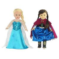 China 18-inch Doll Clothes - Princess Elsa and Anna Inspired Outfit Set - fits American Girl  Dolls on sale