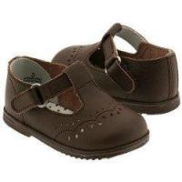 Best IM LINK Baby Girls Size 3 Brown Eyelet Design Mary Jane Trendy Shoes wholesale