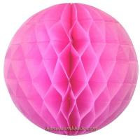 Buy cheap Baby Pink Honeycomb Balls 6 Inch 15cm Paper Tissue Balls from wholesalers