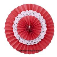 Best Dark Red Multi Layers Paper Pinwheel Party Supplies Decorations wholesale