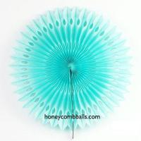 Best Baby Blue Hollow out Party Paper Decoration Pinwheel Supplies wholesale