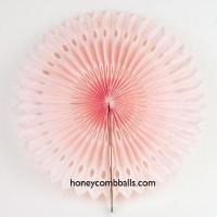 Baby Pink Hollow out Paper Pinwheel Fans for Wedding Decoration