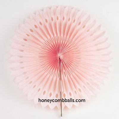 Cheap Baby Pink Hollow out Paper Pinwheel Fans for Wedding Decoration for sale